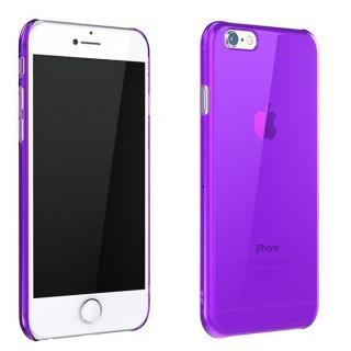 ウルトラスリム 0.5mm クリアハードケース パープル iPhone 6 Plus
