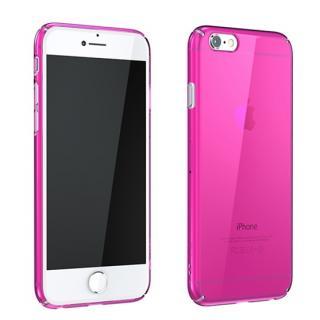 ウルトラスリムタフ 0.5mm クリアハードケース ピンク iPhone 6 Plus