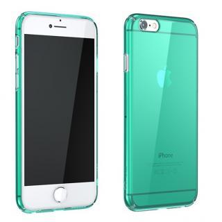 ウルトラスリムタフ 0.5mm クリアハードケース グリーン iPhone 6 Plus