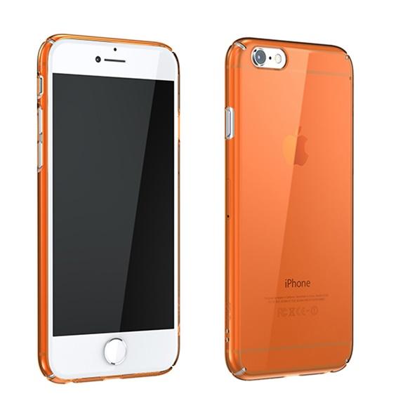 iPhone6 ケース ウルトラスリムタフ 0.5mm クリアハードケース オレンジ iPhone 6_0
