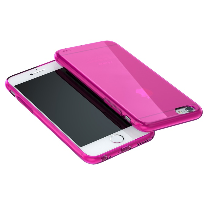 【iPhone6ケース】ウルトラスリム TPUクリアケース ピンク iPhone 6_0
