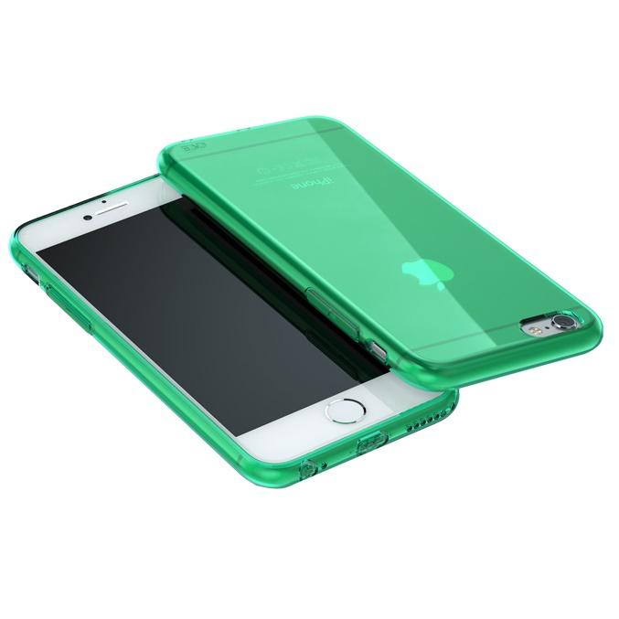 iPhone6 ケース ウルトラスリム TPUクリアケース グリーン iPhone 6_0