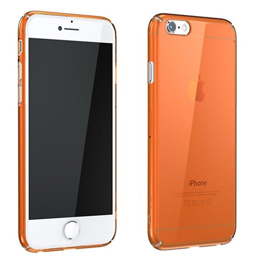 iPhone6 Plus ケース ウルトラスリムタフ 0.5mm クリアハードケース オレンジ iPhone 6 Plus_0