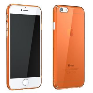 ウルトラスリムタフ 0.5mm クリアハードケース オレンジ iPhone 6 Plus