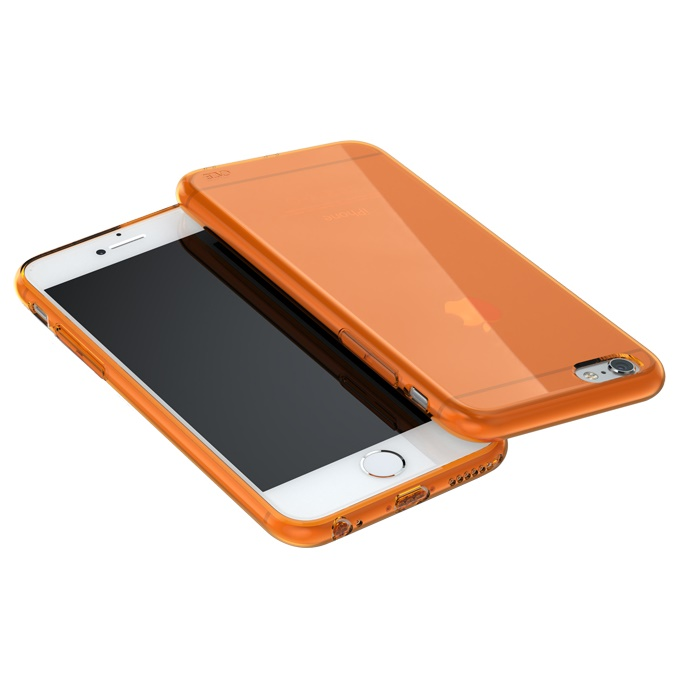 iPhone6 ケース ウルトラスリム TPUクリアケース オレンジ iPhone 6_0