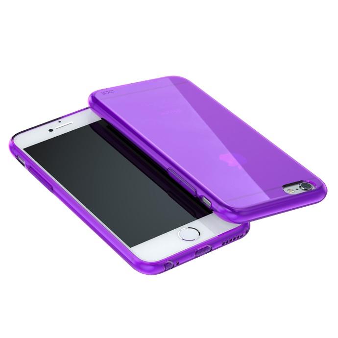 iPhone6 ケース ウルトラスリム TPUクリアケース パープル iPhone 6_0