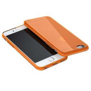 ウルトラスリム TPUクリアケース オレンジ iPhone 6 Plus