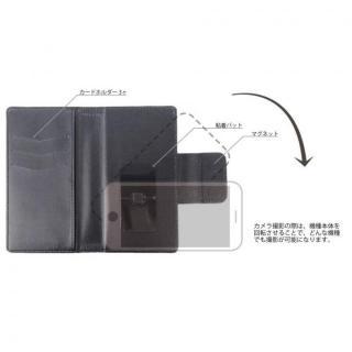 【iPhone6ケース】BLACK BY MOUSSY  ロゴ入り 手帳型ケース ブラック iPhone 6_2