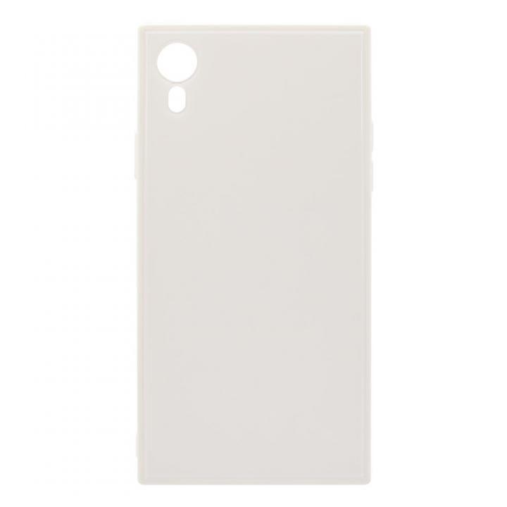 iPhone XR ケース オウルテック 背面強化ガラスハイブリットケース ミルク iPhone XR_0