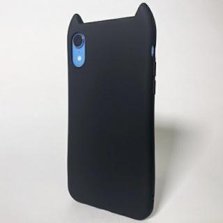iPhone XR ケース HANA MACAROON 猫耳デザインケース ブラック iPhone XR