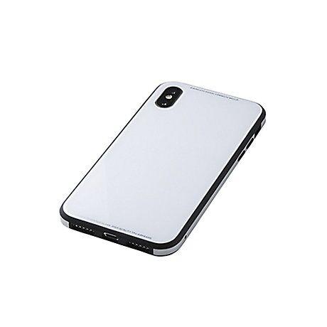 iPhone XS/X ケース Deff Glass&Aluminum&TPU Case Etanze  ホワイト iPhone XS/X_0