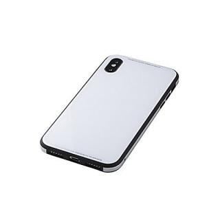 iPhone XS/X ケース Deff Glass&Aluminum&TPU Case Etanze  ホワイト iPhone XS/X