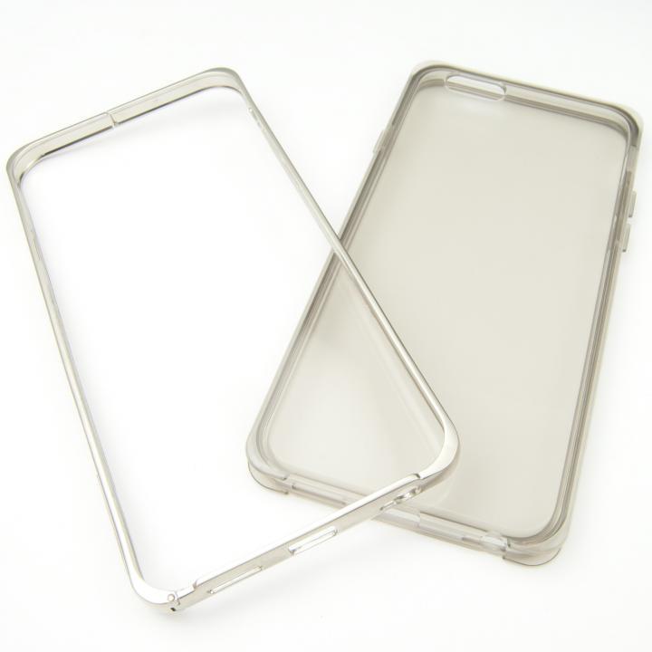 【iPhone6ケース】GRAVITY ハイブリッドバンパー スモーク iPhone 6_0