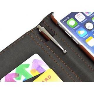 【iPhone6ケース】手帳型合皮ケース タッチペン付 ブラウン iPhone 6_2