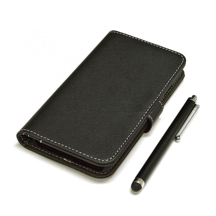 iPhone6s/6 ケース 手帳型合皮ケース タッチペン付 ブラック iPhone 6s/6_0