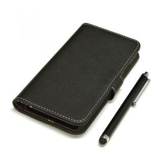 手帳型合皮ケース タッチペン付 ブラック iPhone 6s/6