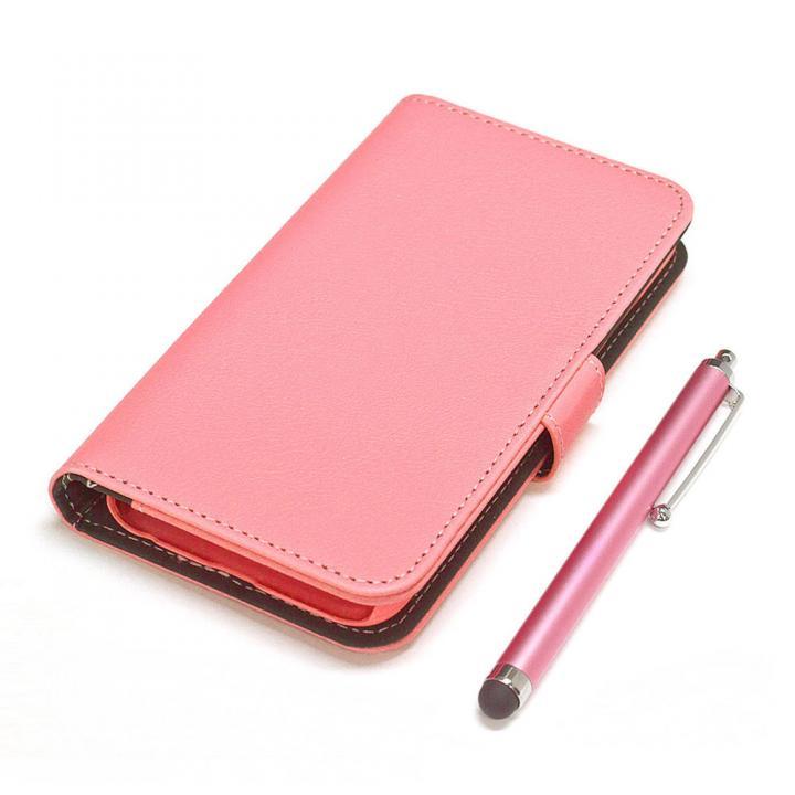 【iPhone6ケース】手帳型合皮ケース タッチペン付 ピンク iPhone 6_0