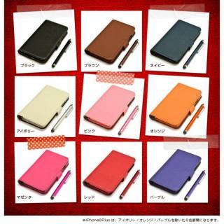 【iPhone6ケース】手帳型合皮ケース タッチペン付 ピンク iPhone 6_6