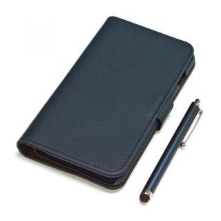 手帳型合皮ケース タッチペン付 ネイビー iPhone 6s Plus/6 Plus