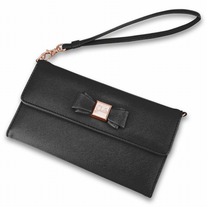 iPhone6 Plus ケース Julia PhonePochette 手帳型ケース ブラック iPhone 6 Plus_0
