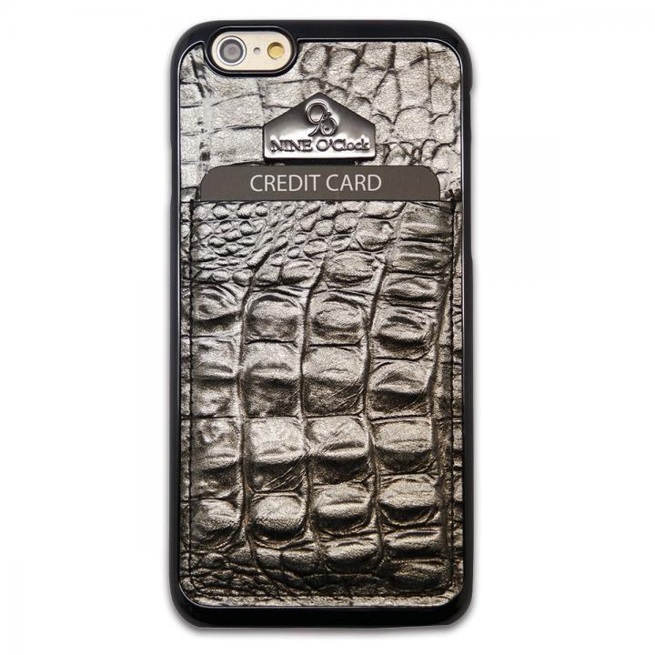 【iPhone6s/6ケース】i-Pocket プレミアム クロコ型押しケース チョコシルバー iPhone 6s/6_0