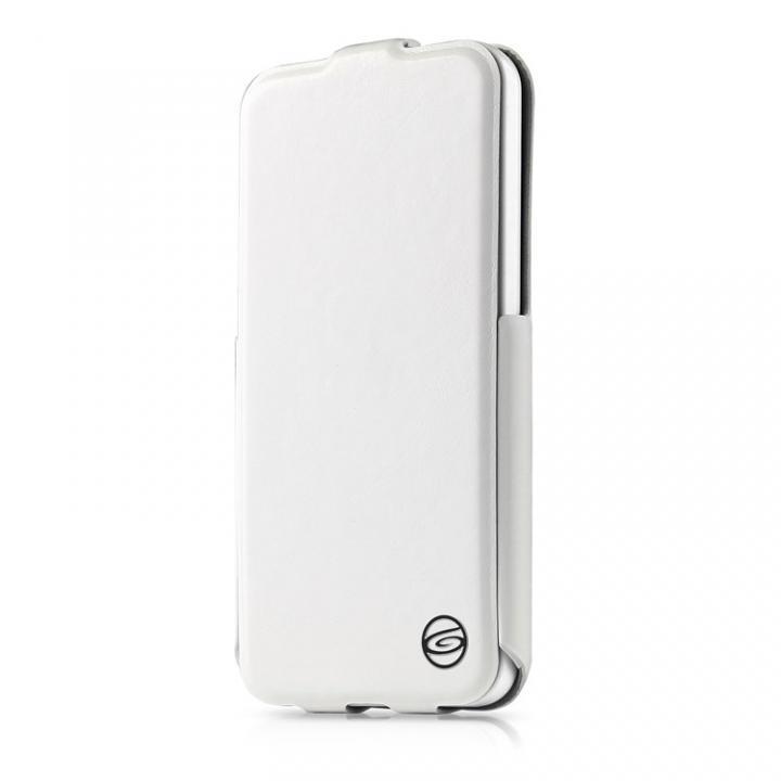 Plume iPhone5c ホワイト 縦開きケース