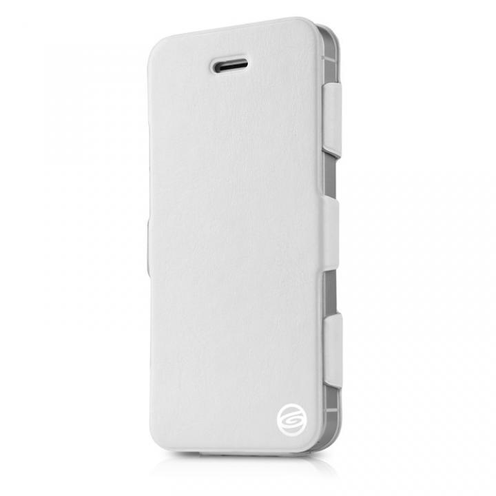 Plume iPhone SE/5s/5 ホワイト 横開きケース