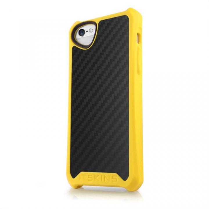 iPhone SE/5s/5 ケース Atom Matt Carbon iPhone SE/5s/5 イエロー_0