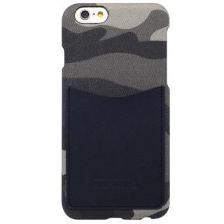 【iPhone6s/6ケース】HANSMARE レザーポケットケース カモフラ ネイビー iPhone 6s/6
