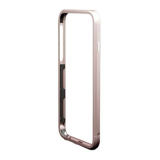 iPhone6s/6 ケース アルミバンパー M's Select. カメラリング付き ローズゴールド iPhone 6s/6