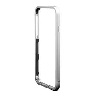 【iPhone6s/6ケース】アルミバンパー M's Select. カメラリング付き シルバー iPhone 6s/6