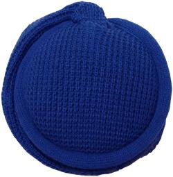 MaR●MaR 4WAYイヤーマフHP付ニット編み ブルー