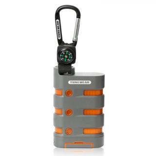 [9000mAh]防水・防塵モバイルバッテリー TUNEWEAR グレー/オレンジ
