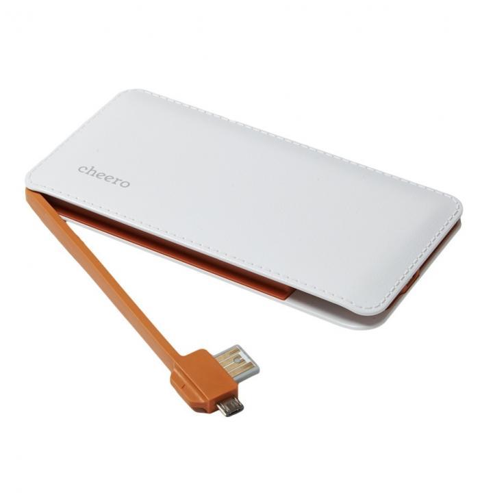 [6000mAh]cheero Handy MicroUSBケーブル内蔵モバイルバッテリー_0