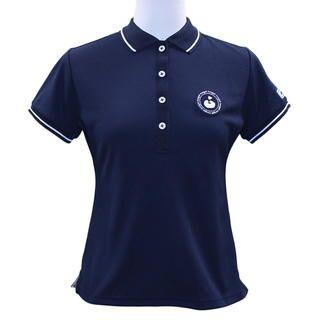 エリプリント 半袖 カノコ ポロシャツ Sサイズ ネイビー