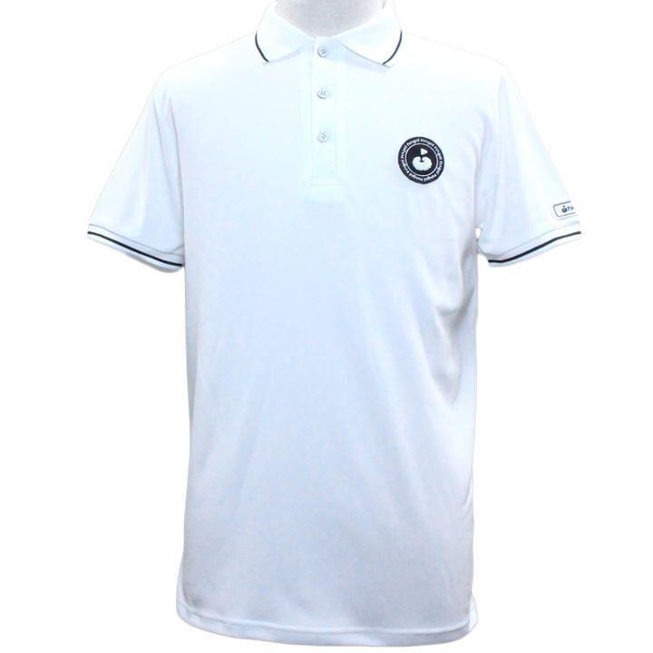 エリプリント 半袖 カノコ ポロシャツ Mサイズ ホワイト_0