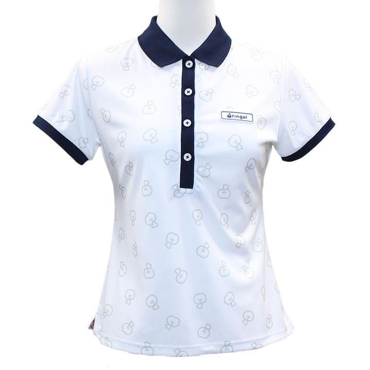 リンゴル ソウガラ 半袖 カノコ ポロシャツ Mサイズ ホワイト_0