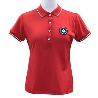 エリプリント 半袖 カノコ ポロシャツ Sサイズ レッド