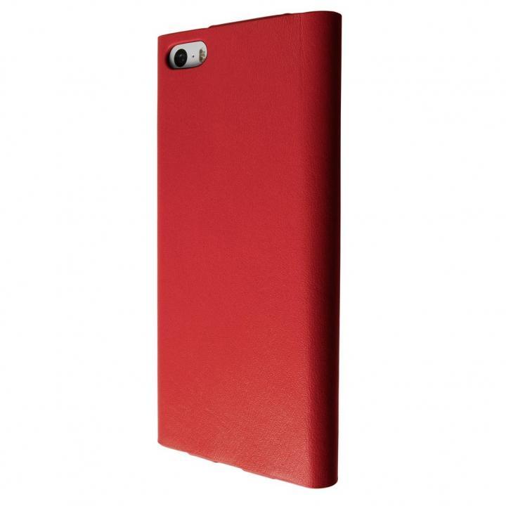 GRAMAS One-Sheet Leather レッド iPhone SE/5s/5 手帳型ケース