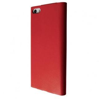 【在庫限り】1枚牛革を贅沢に使用 GRAMAS One-Sheet Leather レッド iPhone5s/5 手帳型ケース