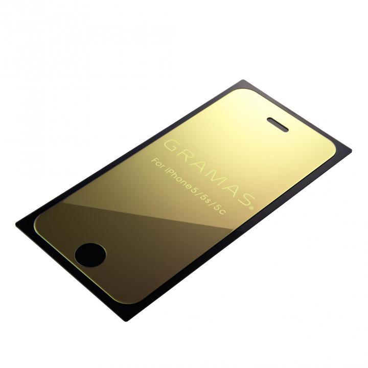 iPhone SE/5s/5 フィルム GRAMAS EXTRA Mirror Glass  iPhone SE/5s/5/5c ゴールド_0