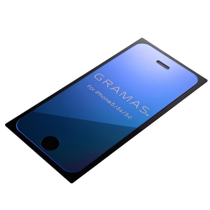 iPhone SE/5s/5 フィルム GRAMAS EXTRA Mirror Glass  iPhone SE/5s/5/5c ブルー_0