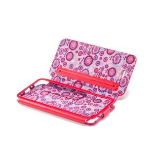 iPhone SE/5s/5 手帳型ケース GRAMAS Leather Case LC453R Flower