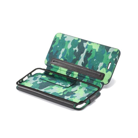 iPhone SE/5s/5 手帳型ケース GRAMAS Leather Case LC453B Camo