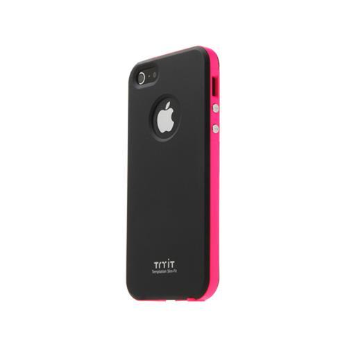 【50%OFF】薄さ9mm try it Neon Series ブラック/ホットピンク iPhone 5ケース