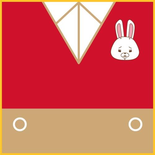 紙兎ロペ ミニタオル(ジャカード織) ロペ