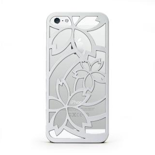 inCUTOUT  切り絵スタイルのiPhone SE/5s/5ケース サクラ シルバー