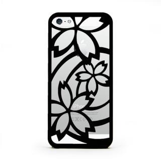 inCUTOUT  切り絵スタイルのiPhone SE/5s/5ケース サクラ ブラック