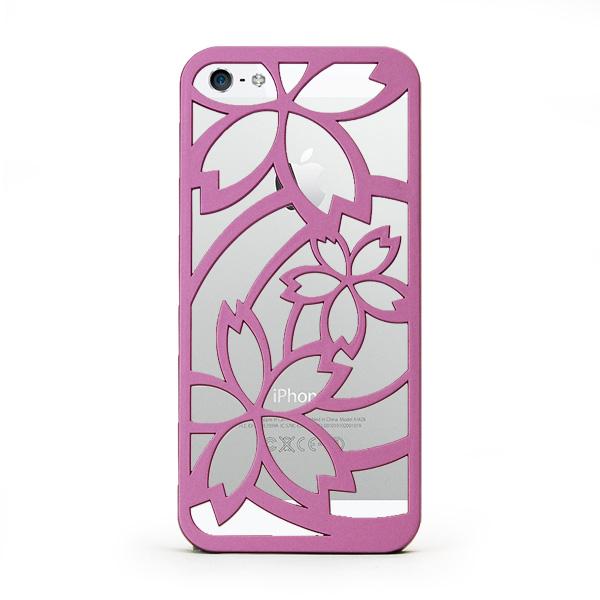 iPhone SE/5s/5 ケース inCUTOUT  切り絵スタイルのiPhone SE/5s/5ケース サクラ ラベンダー_0