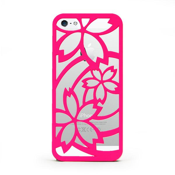iPhone SE/5s/5 ケース inCUTOUT  切り絵スタイルのiPhone SE/5s/5ケース サクラ ピンク_0